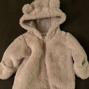 Newborn Sherpa Hooded Bunting